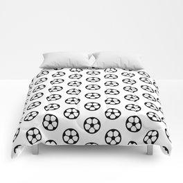 Simple Soccer Ball Motif Pattern Comforters