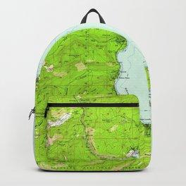 Vintage Map of Tahoe California (1955) Backpack