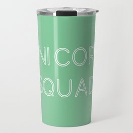 Unicorn Squad - Mint Green and White Travel Mug