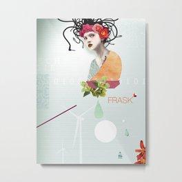 FRASK techno Metal Print