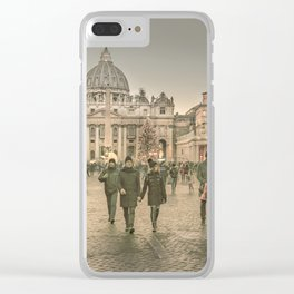 Conciliazione Street, Rome, Italy Clear iPhone Case