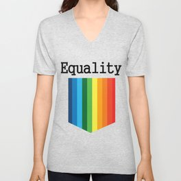 LGBT Gay Pride Pocket Rainbow Flag Unisex V-Neck