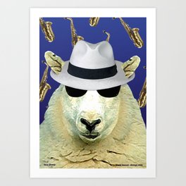 Jazz Sheep Art Print
