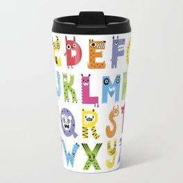 Alphabet Monsters Travel Mug