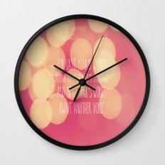 Last Years Words  Wall Clock