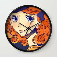 chic Wall Clocks featuring Chic by Victoria Rivero