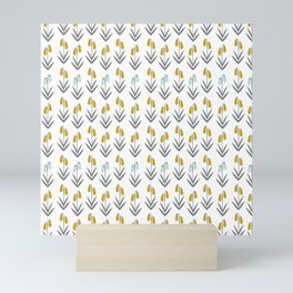 Yellow and Blue Spring Flower Buds Mini Art Print