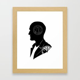 9th Doctor - [Gallifreyan] Quote Silhouette Framed Art Print