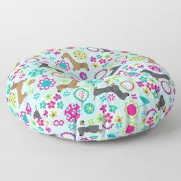 Dachshund Garden Party Floor Pillow