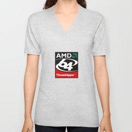 Vintage AMD Threadripper Logo Unisex V-Neck