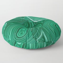 Green Malachite Nature Pattern Design Abstract Floor Pillow