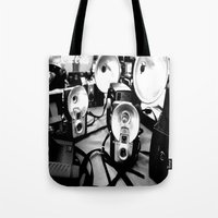 cameras Tote Bags featuring Cameras by Yancey Wells