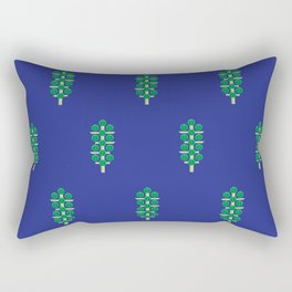 Vegetable: Brussels Sprout Blue Rectangular Pillow