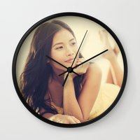 asian Wall Clocks featuring Asian Beauty by visualspectrum