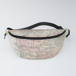 Vintage Coastal Washington State Map (1901) Fanny Pack