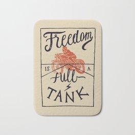 Freedom biker print Bath Mat