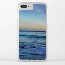 Blue Beach Paradise Waves Clear iPhone Case