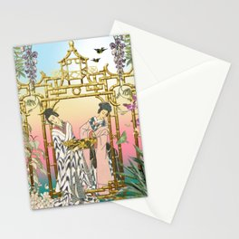 Geishas at the Gate Stationery Cards