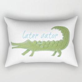 Later Gator Rectangular Pillow