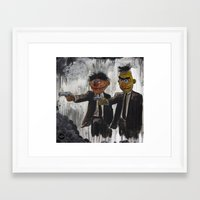 street Framed Art Prints featuring Pulp Street by Beery Method