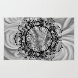 Gray Swirl Mandala Rug