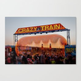 All Aboard the Crazy Train carnival ride Canvas Print