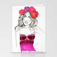megan lara Stationery Cards featuring Megan by DLavArt