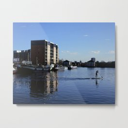 Breach of the Peace in Millwall Dock Metal Print