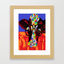 Spectacled Cow Framed Art Print