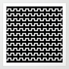 Black line flow Art Print