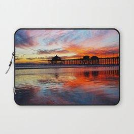 Huntington Beach Sunset    11/8/13 Laptop Sleeve