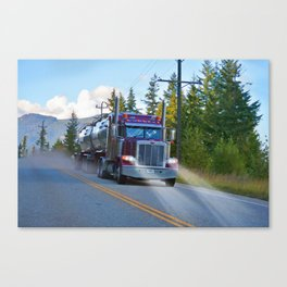 Trans Canada Trucker Canvas Print