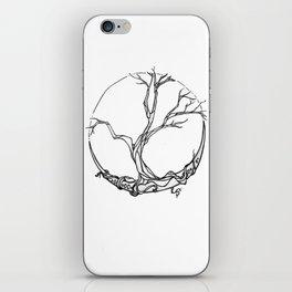 Moon tree iPhone Skin