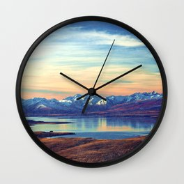 Lake Tekapo New Zealand-Fall Wall Clock