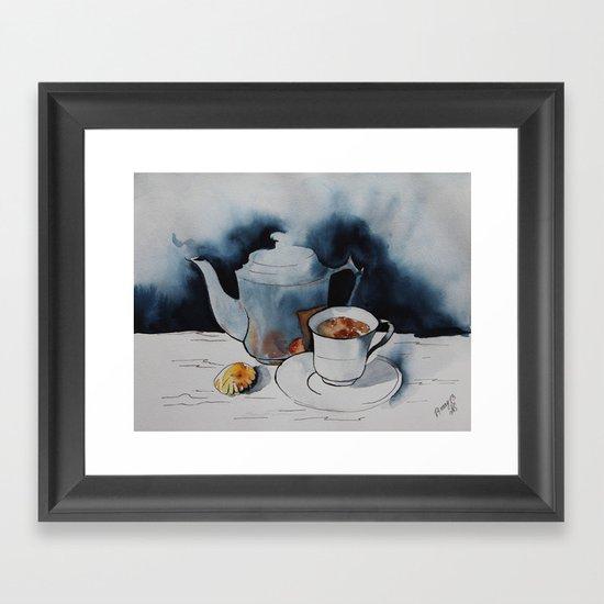 morning coffee Framed Art Print