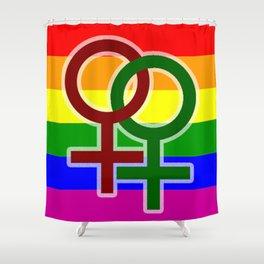 LGBT Lesbian Shower Curtain
