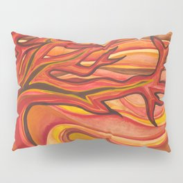 The Tree on Fire Pillow Sham