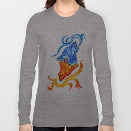 Fire and Water Wolves Long Sleeve T-shirt