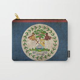 Old and Worn Distressed Vintage Flag of Belize Carry-All Pouch