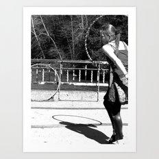 Dancing with Shadows (Hula Hoop Series) Art Print