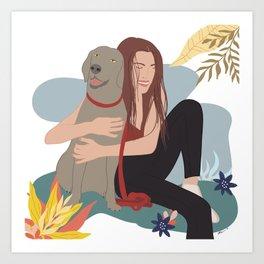 KIKI AND ME Art Print