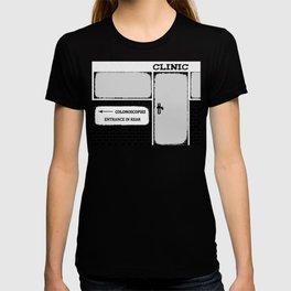 Colonoscopy Colonoscopies Entrance at Rear Funny Cartoon Illustration T-shirt