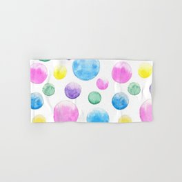 cheerful colorful bubbles Hand & Bath Towel