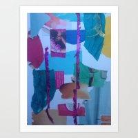 //Collage// Art Print
