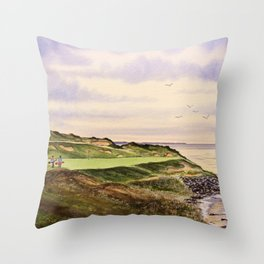 Whistling Straits Golf Course Hole 7 Throw Pillow