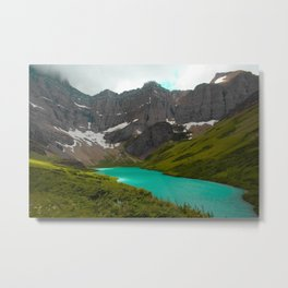 Cracker Lake - Glacier National Park Metal Print