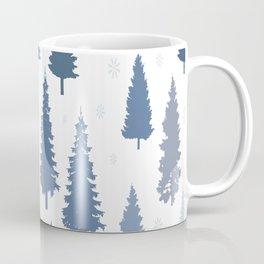 Pines and snowflakes pattern Coffee Mug