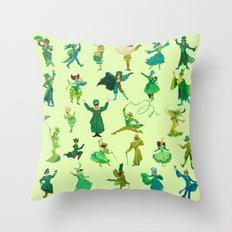 positively emerald Throw Pillow
