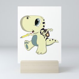 School start 1st grade  Dino Dinosaur Gift Mini Art Print