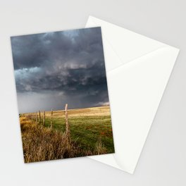 Soft - Storm Along Fence Line in Texas Panhandle Stationery Cards